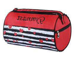 Sassi Designs Love to Dance Gymnast Small Roll Duffel Bag Si