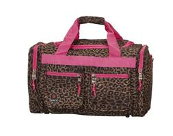 Rockland Luca Vergani 2-Piece Cosmetic Case Set - Pink Leopa