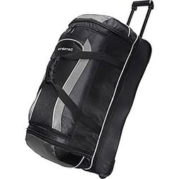Samsonite Luggage Andante Drop Bottom Wheeled Duffel, Black/