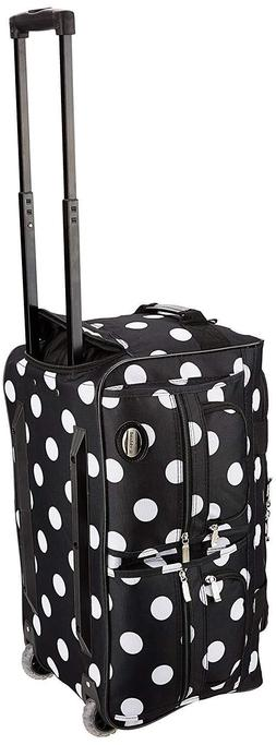 Rockland Luggage Rolling 22 Inch Duffle Bag, Black Dot, One