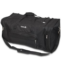 Everest Luggage Sporty Gear Bag - Large,One Size,Solid Black