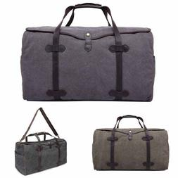 Men's Large Travel Bag Hand Luggage Duffel Pack Canvas Shoul