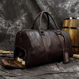 Men Travel <font><b>Bag</b></font> Soft Genuine <font><b>Lea