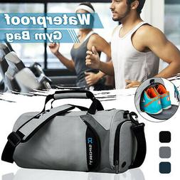 men waterproof nylon fitness holdall sport gym
