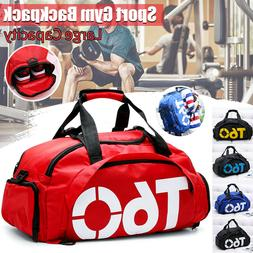 Men Women Sports Duffle Bag Shoulder Gym Luggage Backpack Tr