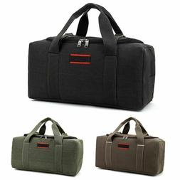 Men Women Vintage Canvas Sports Gym Travel Luggage Shoulder