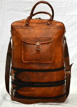 Mens-Leather-Backpack-Laptop-Bag-Large-Duffle-Travel-Camping