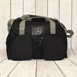 MERCEDES BENZ DUFFLE BAG GYM BAG BLACK SHOULDER STRAP BOTTLE