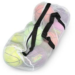"39"" Mesh Sports Ball Bag with Adjustable Shoulder Strap, Ove"