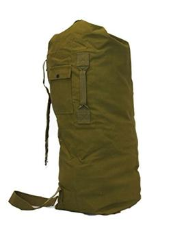 Military Style 2 Strap Canvas Duffel Bag Top Load
