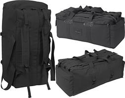 Black Israeli Military Mossad Tactical Carry Duffle Bag with