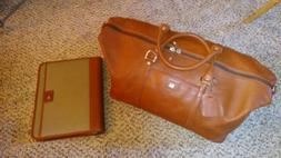 "New Cutter and Buck Genuine Leather Duffel Bag 19"" and lap"