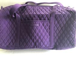 NEW! Vera Bradley Elderberry Quilted Purple Small Duffel Car