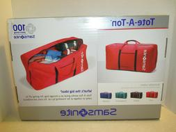 New In Box- Samsonite Tote-A-Ton Duffle Bag- Red with Black