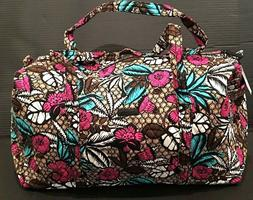 NEW Vera Bradley Large Duffel Bag Canyon Road Pattern Foldab