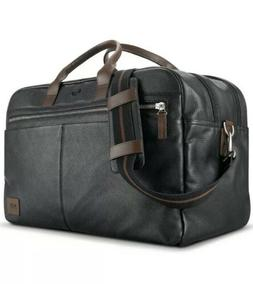 New Solo NEW YORK Black Bayside Leather  Duffle Bag NEW! Hol