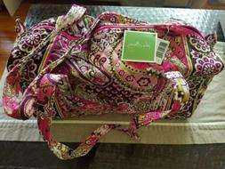 New Vera Bradley Small Duffel Bag Very Berry Paisley