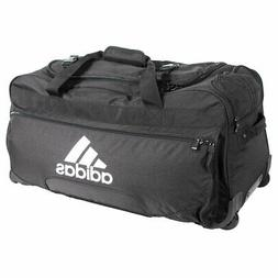 NEW Adidas Team Wheeled Duffle Bag Black White Large Trainin
