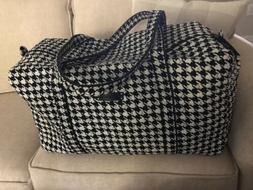 NWOT Vera Bradley Retired Midnight Houndstooth Large Duffle