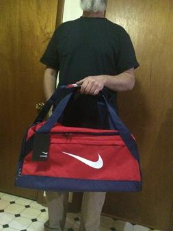 NWT Nike Brasilia MEDIUM Duffle bag RED with strap