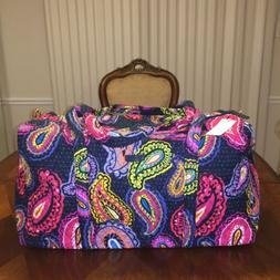 nwt large duffel in twilight paisley