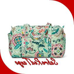 NWT VERA BRADLEY QUILTED ICONIC SMALL DUFFEL TRAVEL BAG FLOR