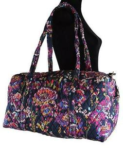 NWT VERA BRADLEY QUILTED SMALL DUFFEL GYM TRAVELLING BAG MID