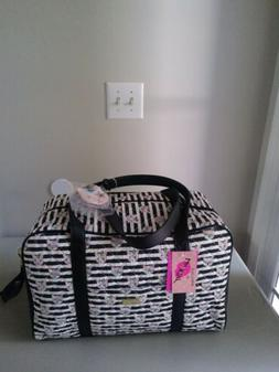 NWT BETSEY JOHNSON Quilted Unicorn Cat Rainbow WEEKENDER BAG