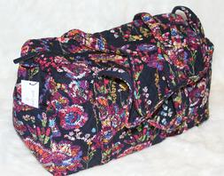 NWT! VERA BRADLEY Small Duffel Travel Gym Weekender Bag Midn