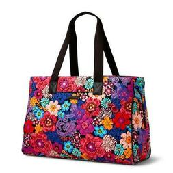 NWT VERA BRADLEY Triple Compartment Travel Bag Floral Fiesta