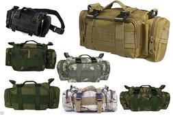 Outdoor Hiking Utility Military Duffle Waist Bag Tactical Mo