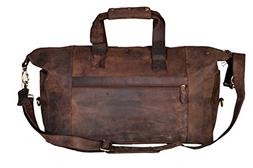 "Cuero 21"" Oversized Leather Travel Tote Duffel shoulder hand"