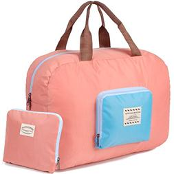 Packable Carry on Bag Travel Tote Sports Gym Duffle Weekende