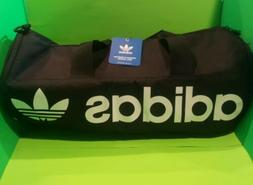 Adidas Paneled Roll Duffel Bag Black White CJ6407 Gym School