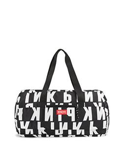 Victoria's Secret Pink Friday Duffle Tote Black & White All