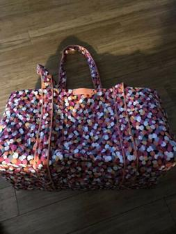 Vera Bradley Pixie Confetti Small Duffel Bag travel vacation
