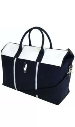 RALPH LAUREN polo fragrances navy blue duffle bag weekender