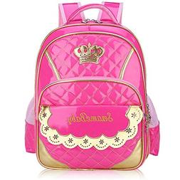 Children Princess Waterproof PU Backpack for Elementary Scho