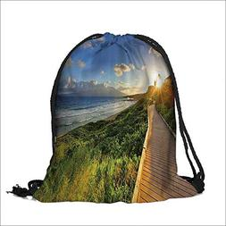 printing Drawstring Gift Bag Fantastic ach Walk over the Gra