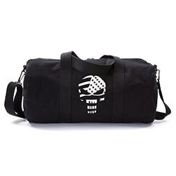 The Punisher Skull American Flag Vintage Army Duffel Sports