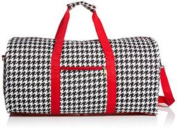 World Traveler Red Houndstooth Gym Duffle Bag 21-inch