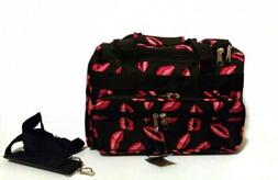 """RED LIPS Duffle Bag 19"""" gym duffel luggage carry-on  NWT"""