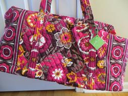 Retired Vera Bradley Large Duffel Duffle Luggage Travel Tote