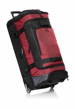 ripstop wheeled duffel red 35 inch