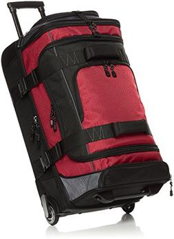 ripstop wheeled duffel red
