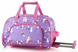 5ceec5f39d Heys Kids 18 Inch Rolling Duffel Bag Shoulder