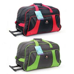 Rolling Wheeled Duffle Bag Tote Carry On Travel Suitcase Lug