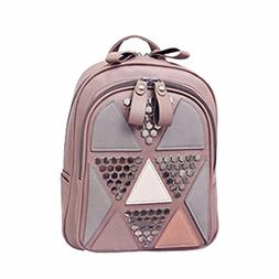 sequin pu leather backpack