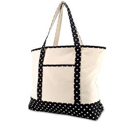 "DALIX 22"" Shopping Tote Bag in Heavy Cotton Canvas  Black St"