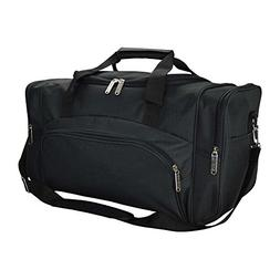 DALIX Signature Travel or Gym Duffle Bag, Black